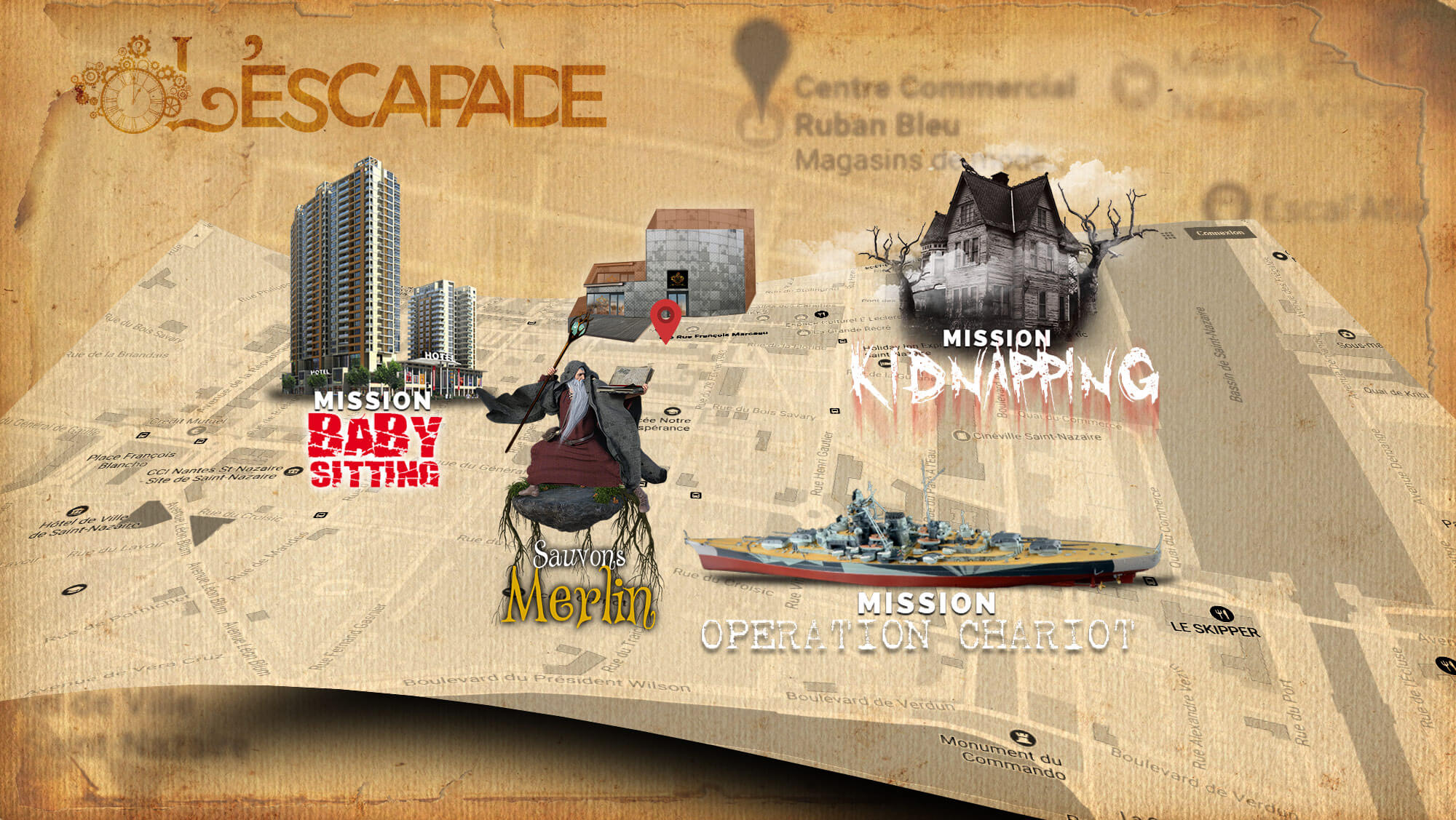 L'ESCAPADE, 1er Live Escape Game de Saint-Nazaire